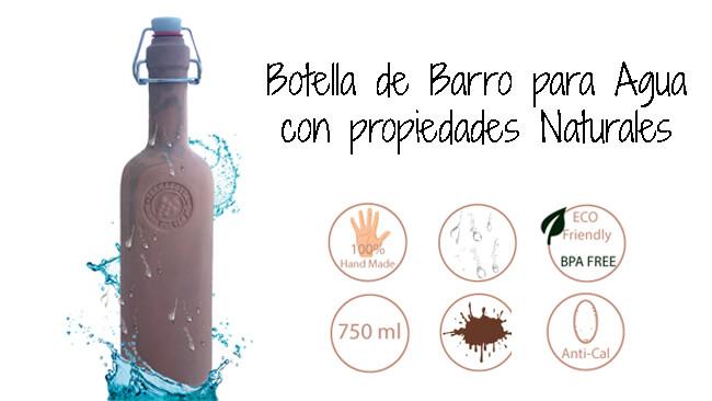 Botella de Barro para Agua